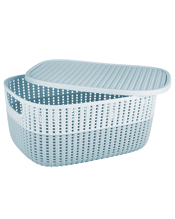 Knitty 2 Tone Knit Basket With Lid 3,5 lt G649-WL